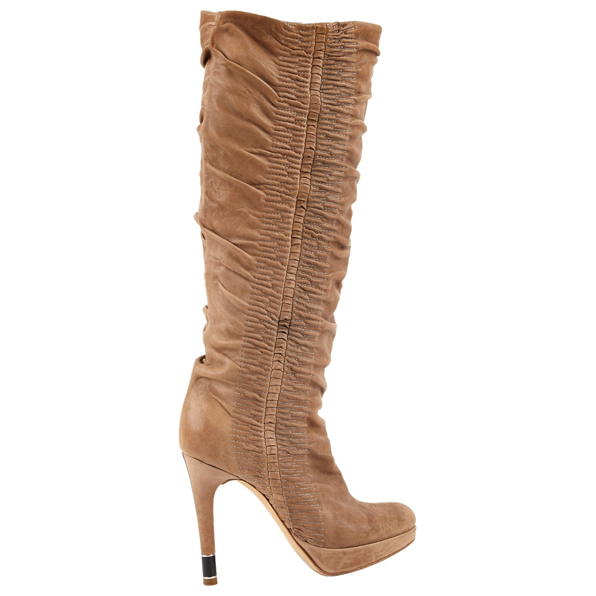Dior \N Beige Leather Boots for Women 35 EU