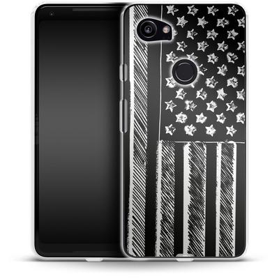 Google Pixel 2 XL Silikon Handyhuelle - Black and White von caseable Designs