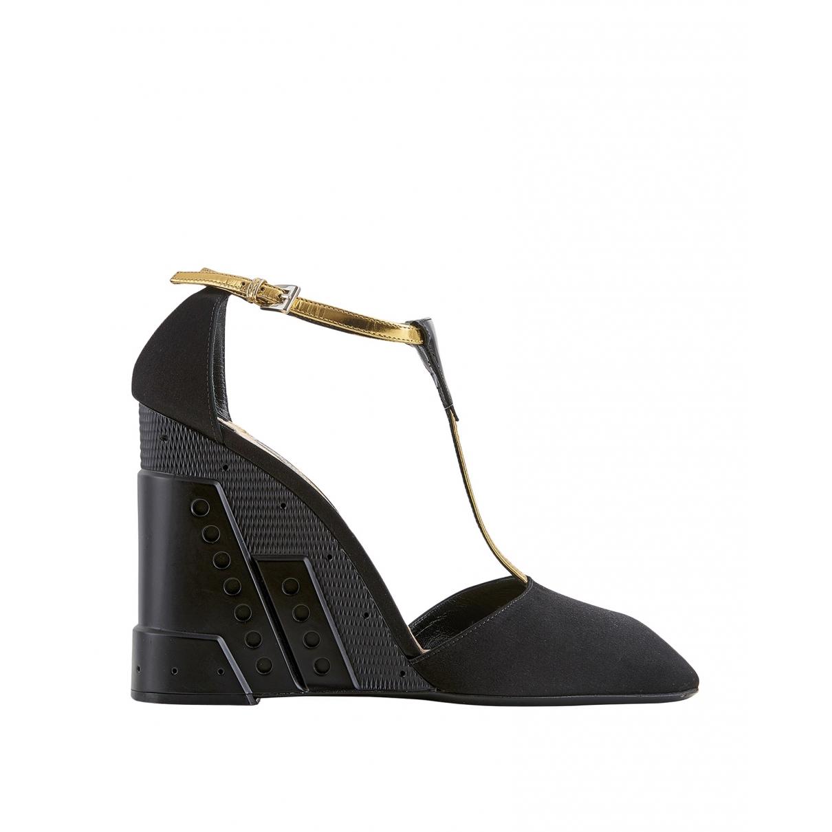 Prada \N Black Suede Heels for Women 7 UK