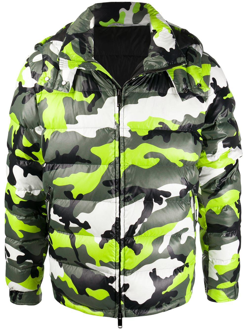 Piumino Con Stampa Camouflage
