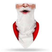Guys Christmas Figure Graphic Sun Protection For The Face