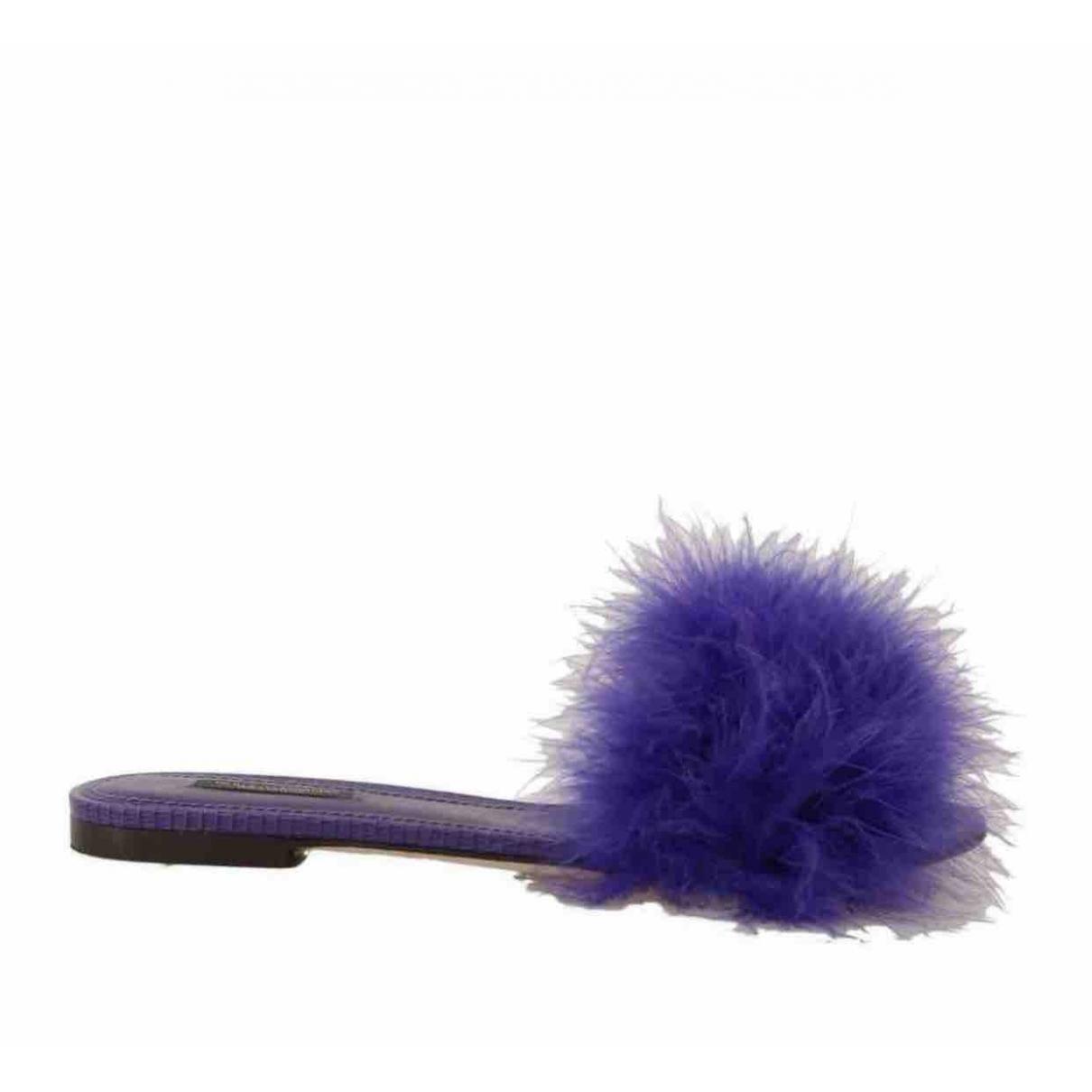 Dolce & Gabbana - Sandales   pour femme en cuir - violet