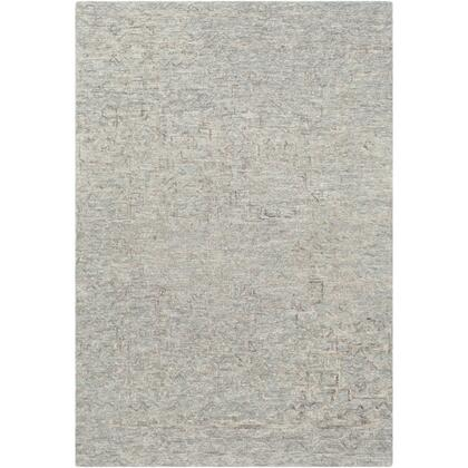 Newcastle NCS-2310 4' x 6' Rectangle Traditional Rug in Sea Foam  Teal  Sage  Taupe  Light