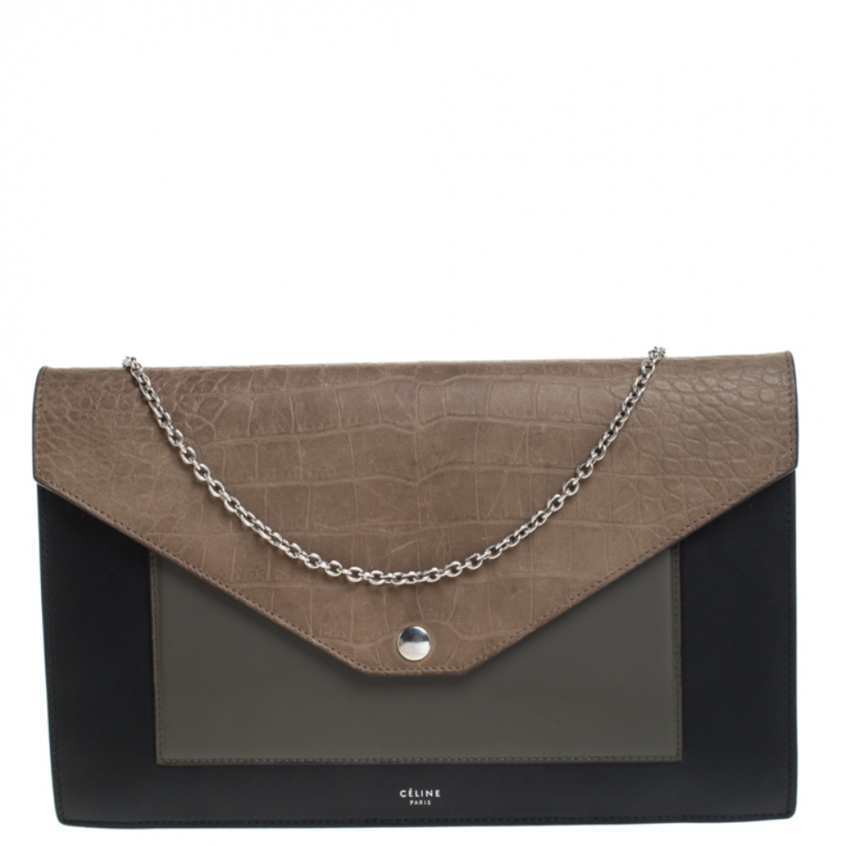 Celine \N Clutch in  Bunt Lackleder