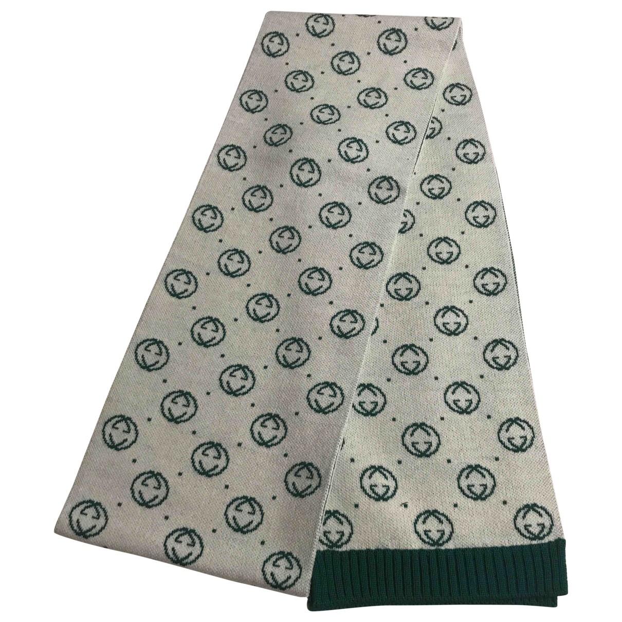 Gucci \N Green Wool scarf & pocket squares for Men \N