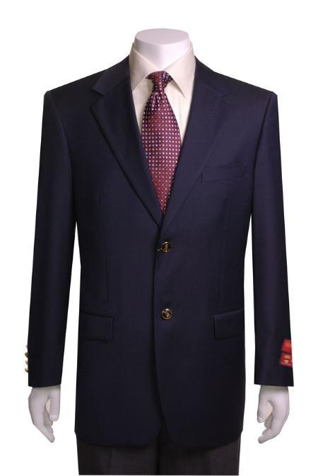 Mens Quality 2 Buttons Portly Blazer / Sport coat Navy