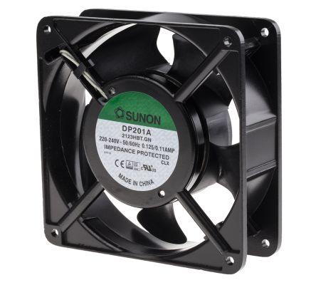 Sunon , 220 → 240 V ac, AC Axial Fan, 119 x 119 x 38mm, 147.8m³/h, 20W