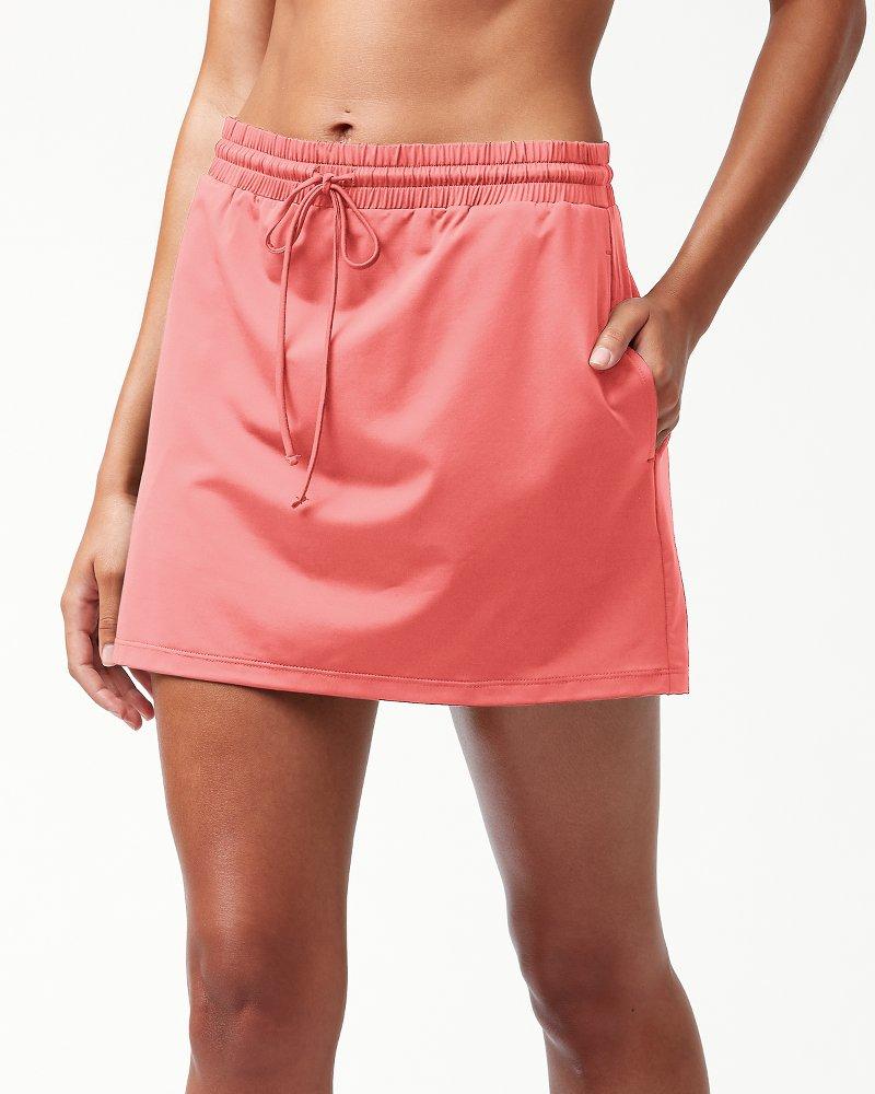 Pearl Drawstring Swim Skirt