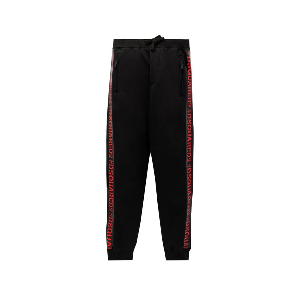 Dsquared2 Tape Logo Joggers Colour: BLACK, Size: 14 YEARS