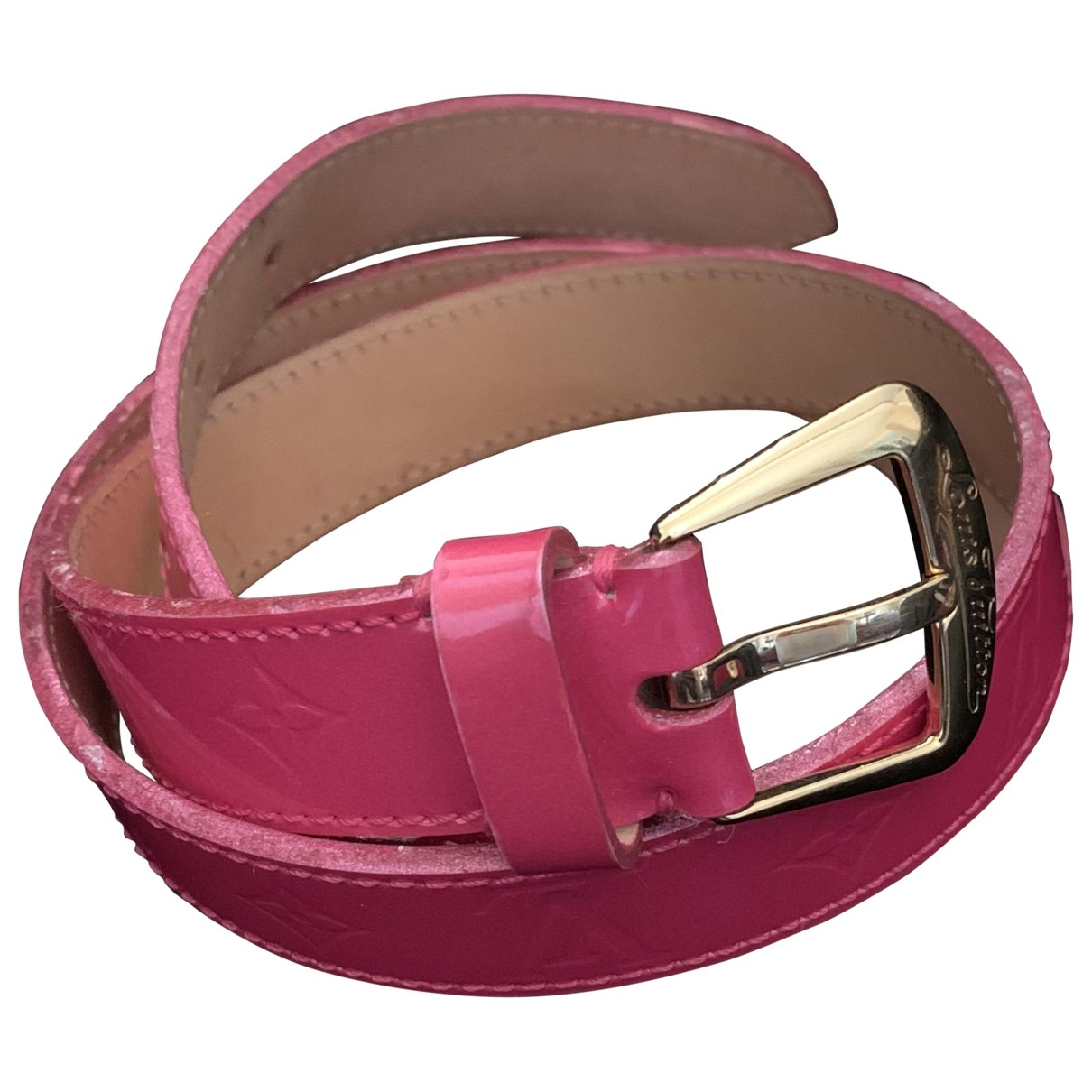 Louis Vuitton \N Pink Patent leather belt for Women 80 cm
