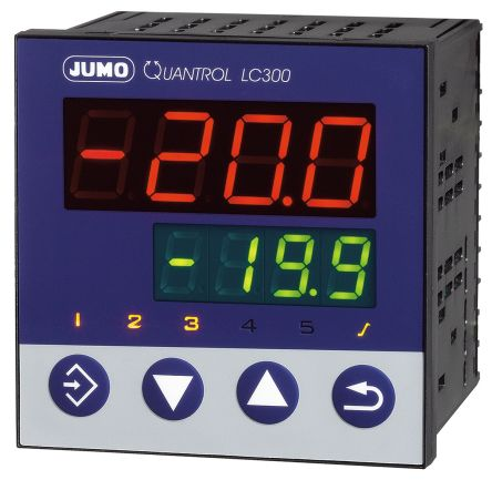 Jumo QUANTROL PID Temperature Controller, 96 x 96mm, 2 Output Analogue, 20  30 V ac/dc Supply Voltage