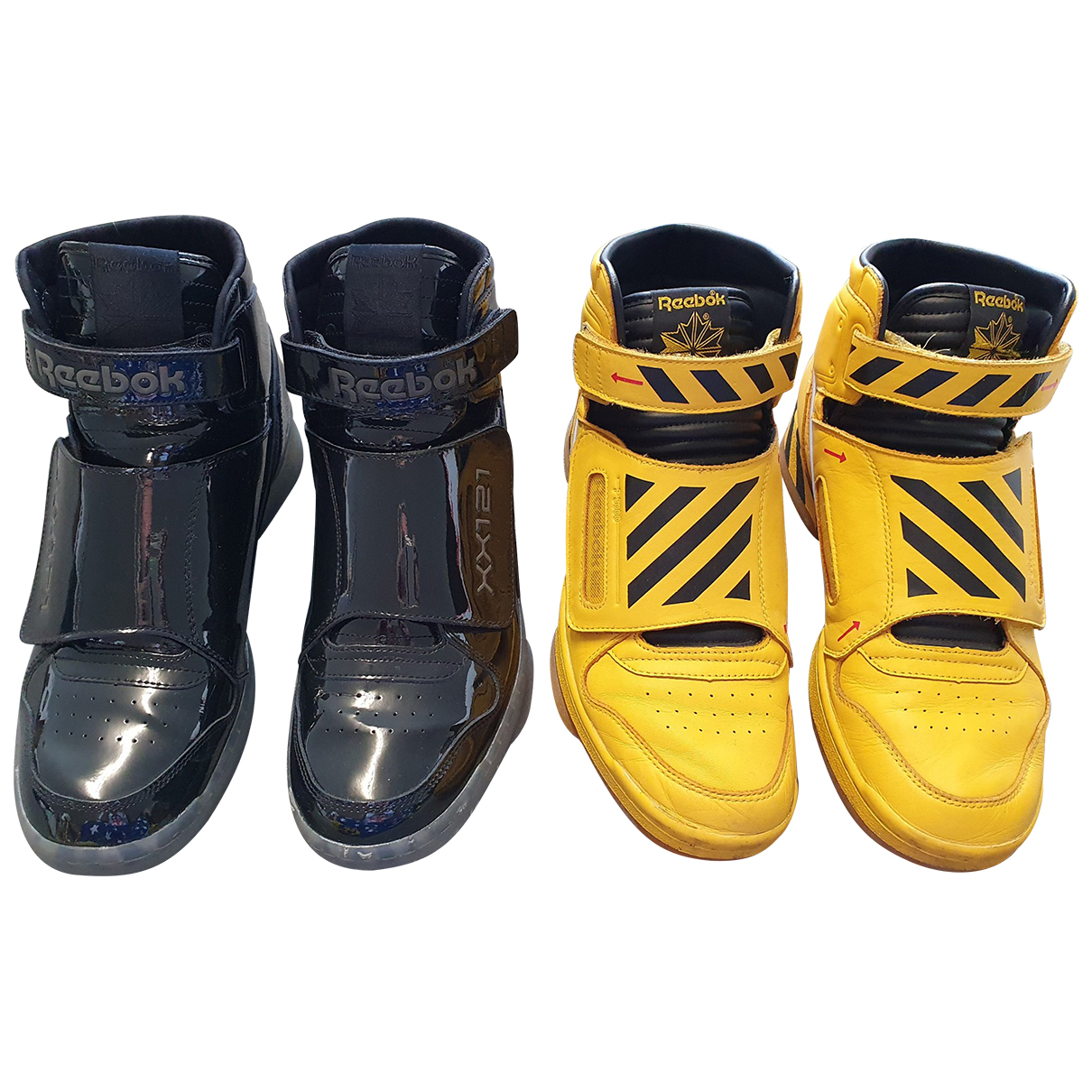 Reebok \N Sneakers in  Gelb Leder