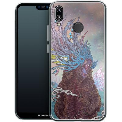 Huawei P20 Lite Silikon Handyhuelle - Journeying Spirit - Bear von Mat Miller