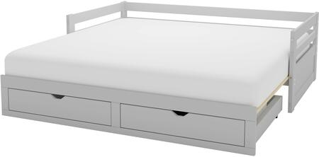 Jasper Collection AJJP1080 Twin to King Extending Day Bed with Storage Drawers  Dove