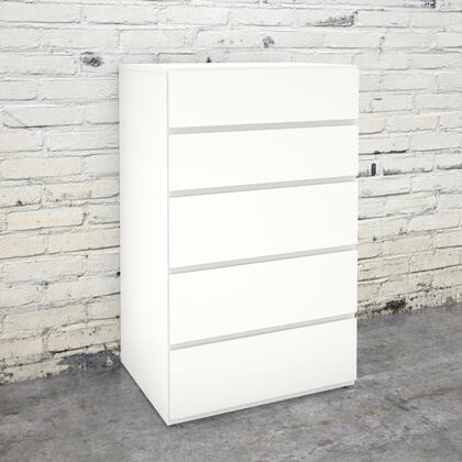 221503 Chest with 5 Drawers on Solid Metal Slides  Scratch  Water and Stain Resistant Melamine Top Panel  in