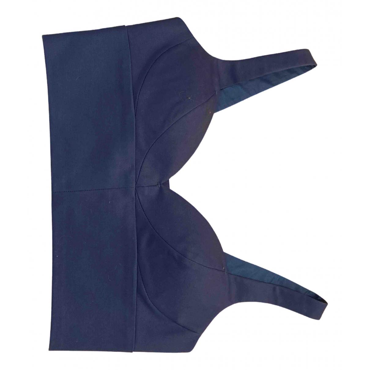 Michael Michael Kors - Top   pour femme en coton - bleu