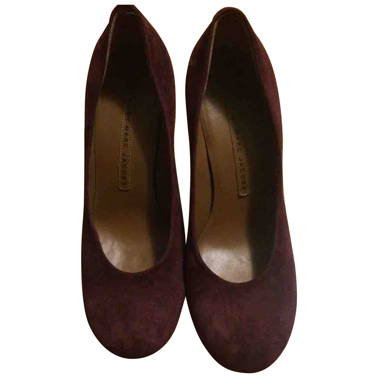 Marc By Marc Jacobs \N Burgundy Suede Heels for Women 36 EU