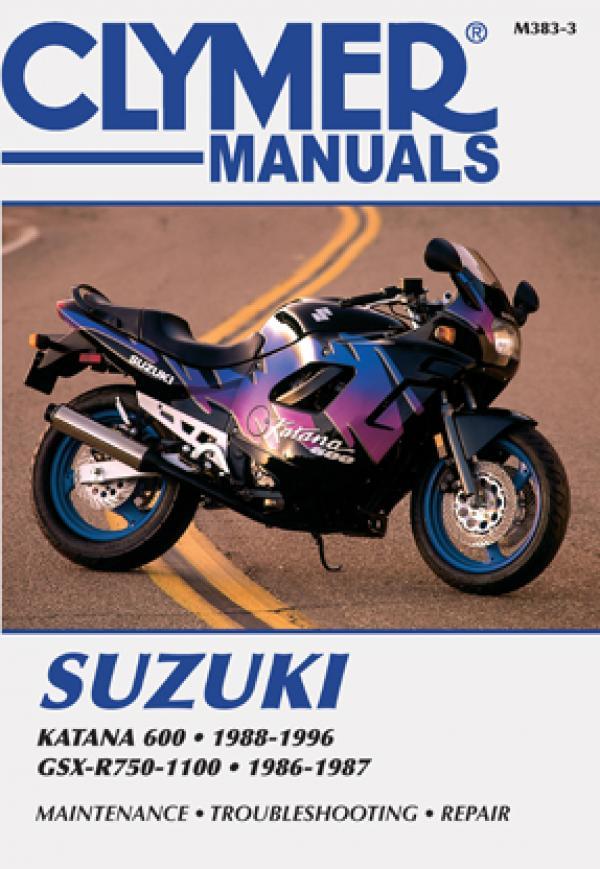 Suzuki Katana 600 (1988-1996) & GSX-R750-1100 (1986-1987) Motorcycle Service Repair Manual