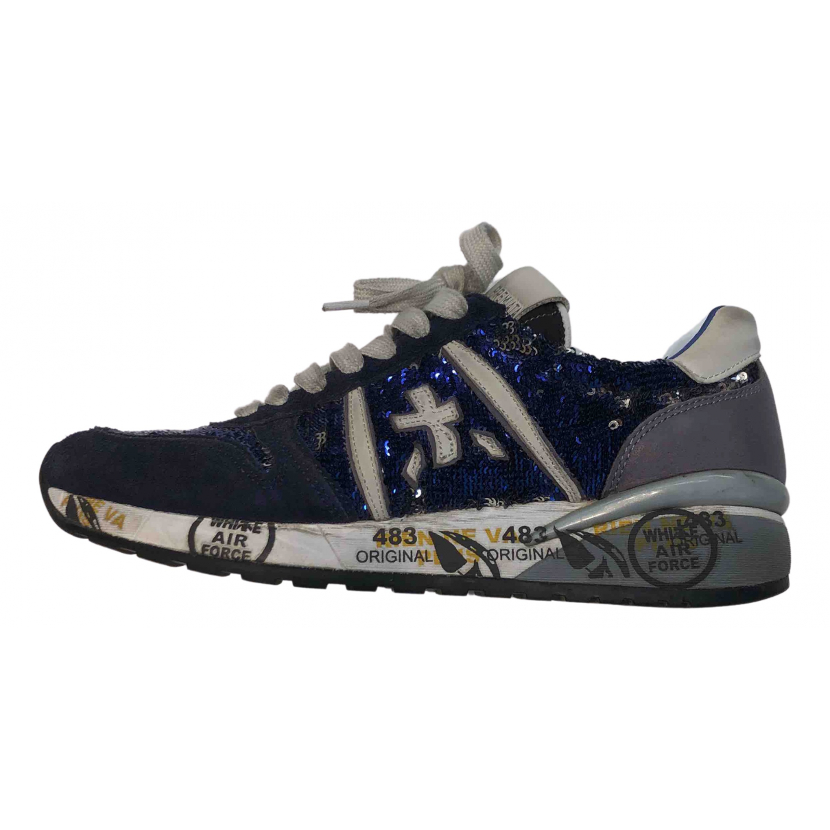 Premiata \N Sneakers in  Marine Mit Pailletten