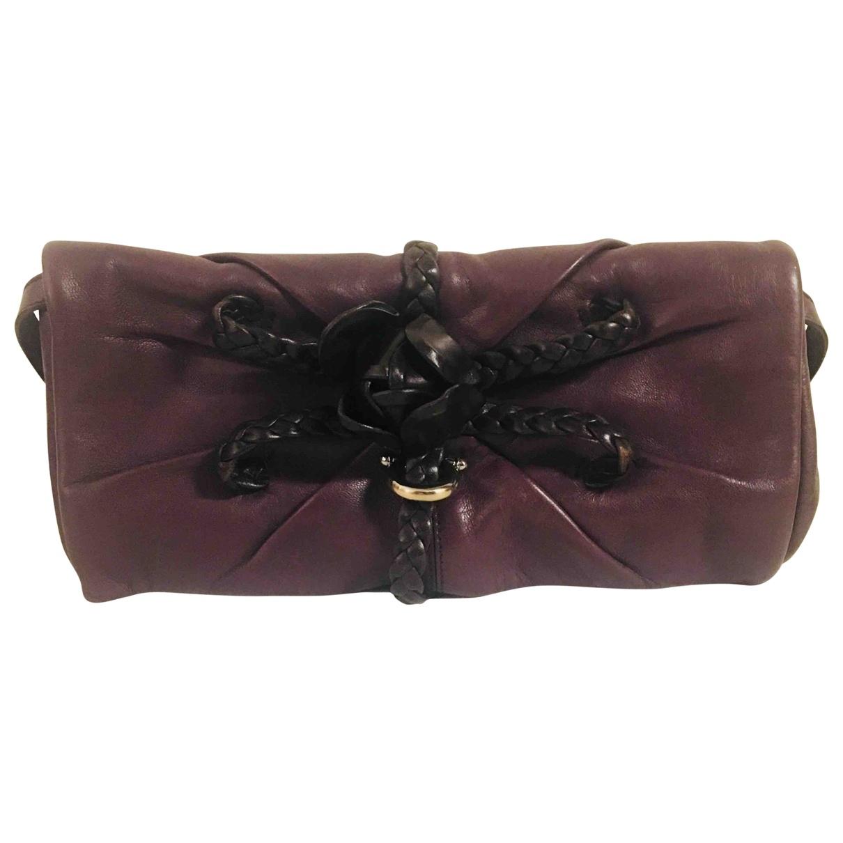 Salvatore Ferragamo \N Purple Leather Clutch bag for Women \N