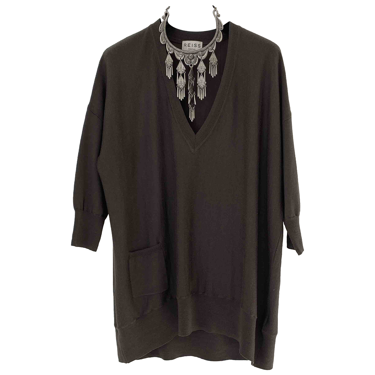 Reiss - Pull   pour femme en laine - kaki