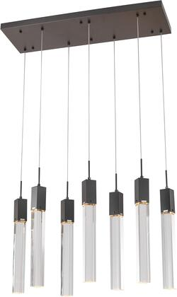 ADS09C7B Kitchen Island Lighting with Metal & Crystal in Matte