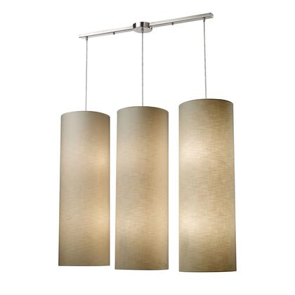 20160/12L Fabric Cylinder 12-Lightlinear Pendant in Satin