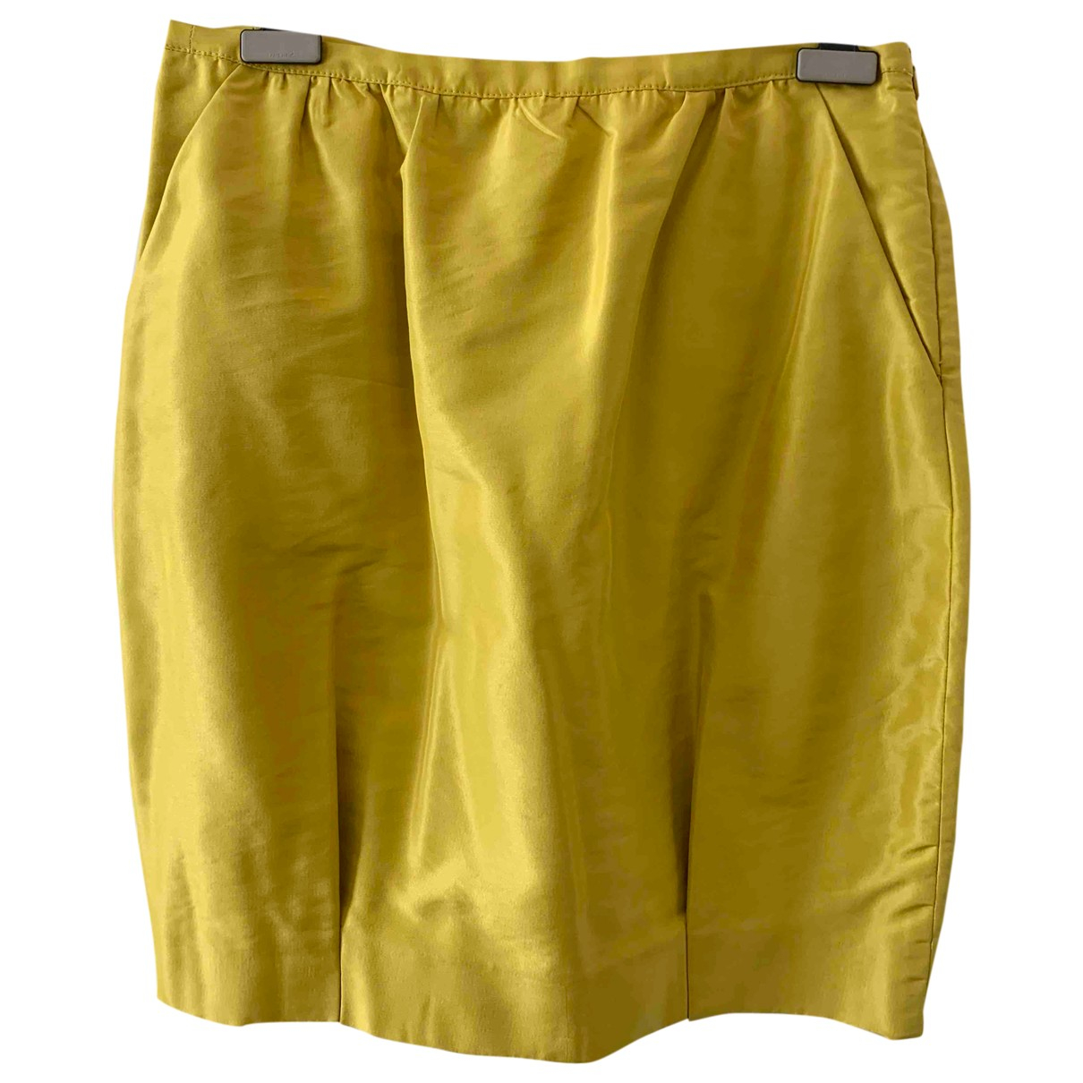 Aspesi \N Yellow Silk skirt for Women 42 IT