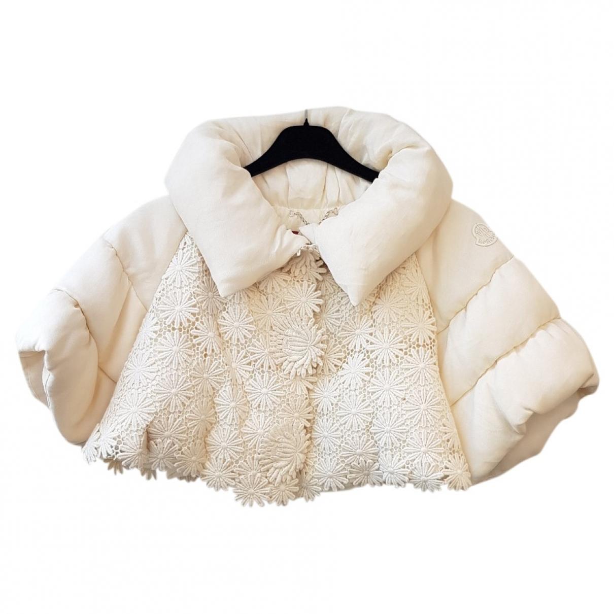 Moncler - Veste   pour femme en laine - ecru