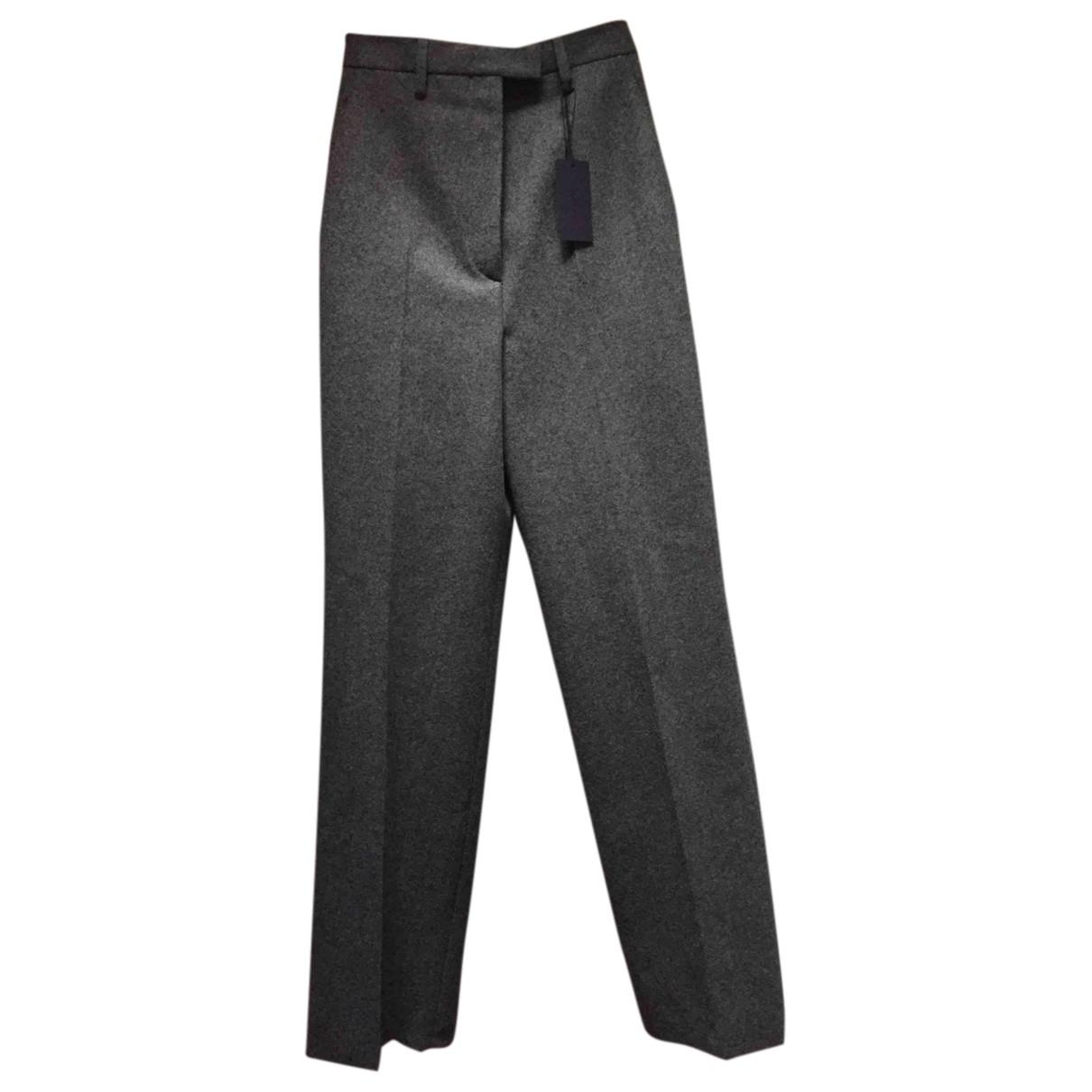 Pantalon recto de Lana Prada