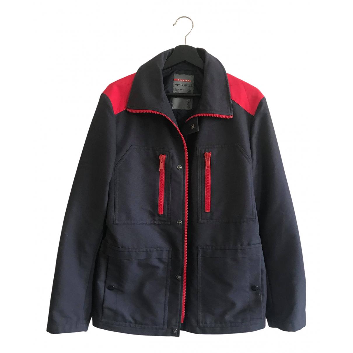 Prada \N Navy Cotton jacket  for Men 48 IT
