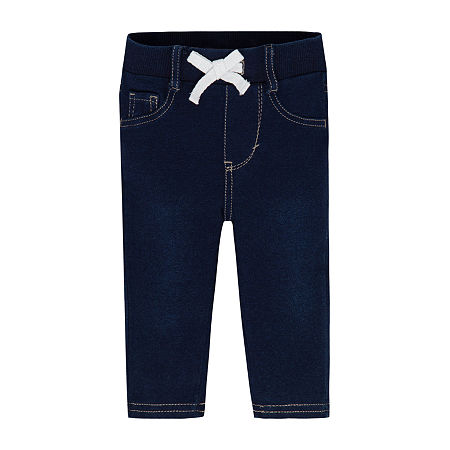Levi's Baby Girls Mid Rise Skinny Pull-On Pants, 3-6 Months , Blue