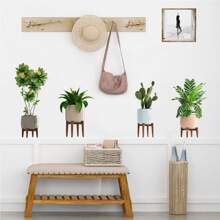 Potted Plants Print Wall Sticker