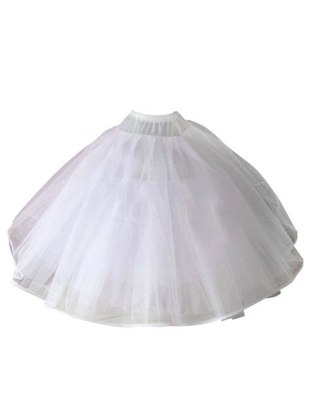 Milanoo White Petticoat Wedding Slip Crinoline Skirt Tulle Bridal Underskirt