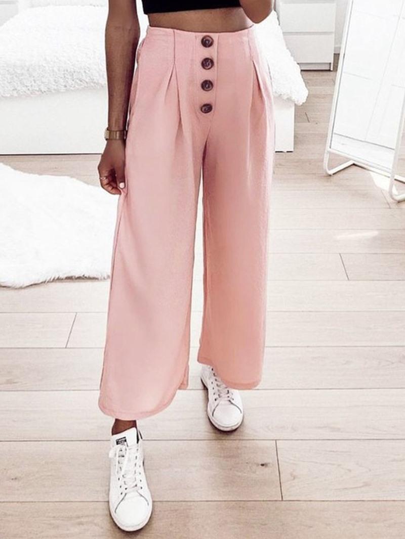 Ericdress Loose Plain Full Length High Waist Casual Pants