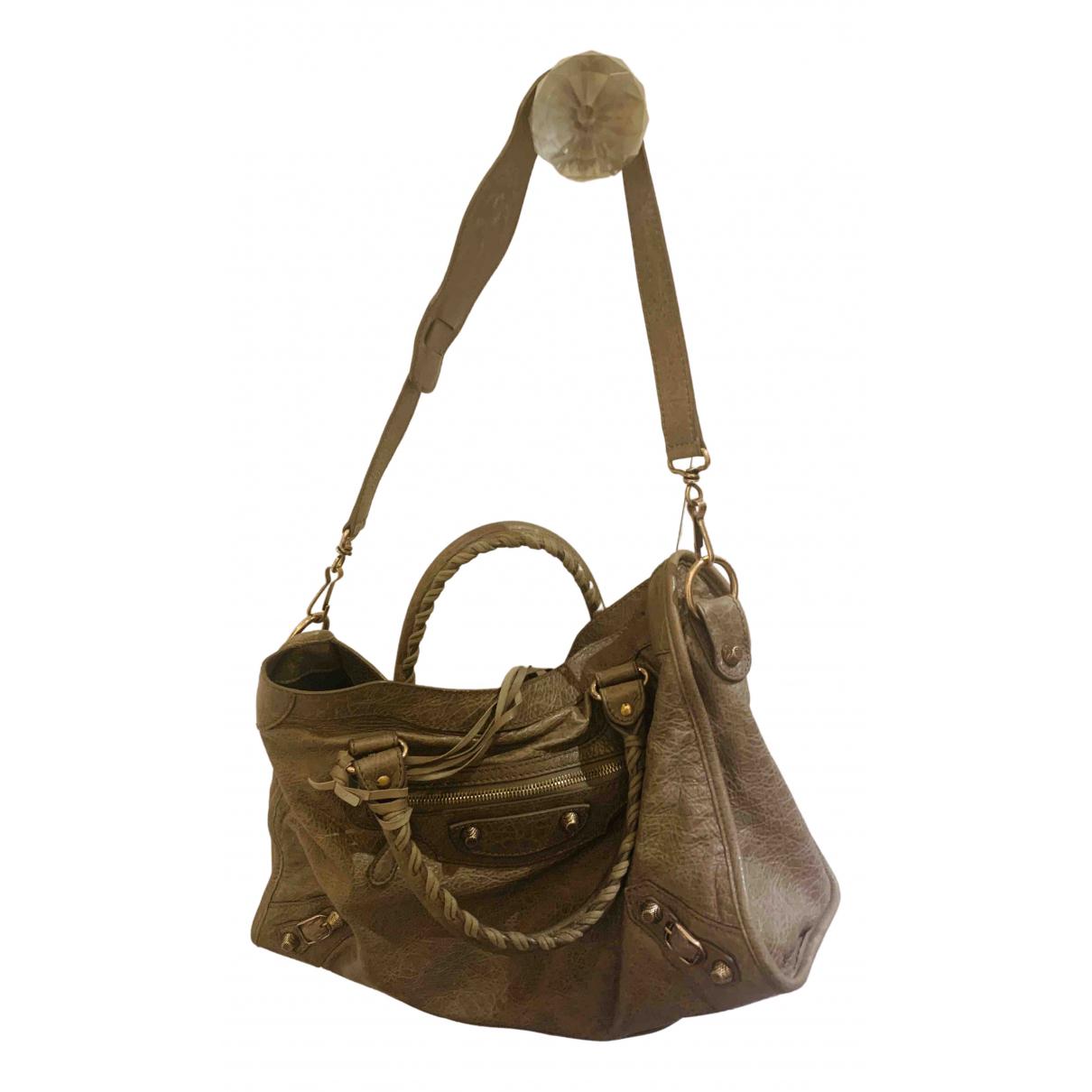 Balenciaga City Handtasche in  Beige Leder