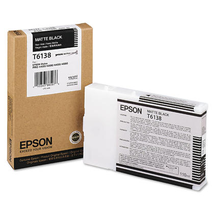 Epson T613800 Original Matte Black Ink Cartridge
