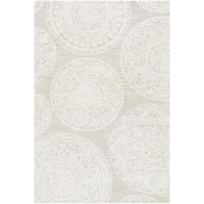 Kayseri KSR-2301 8' x 10' Rectangle Traditional Rug in Taupe  Beige