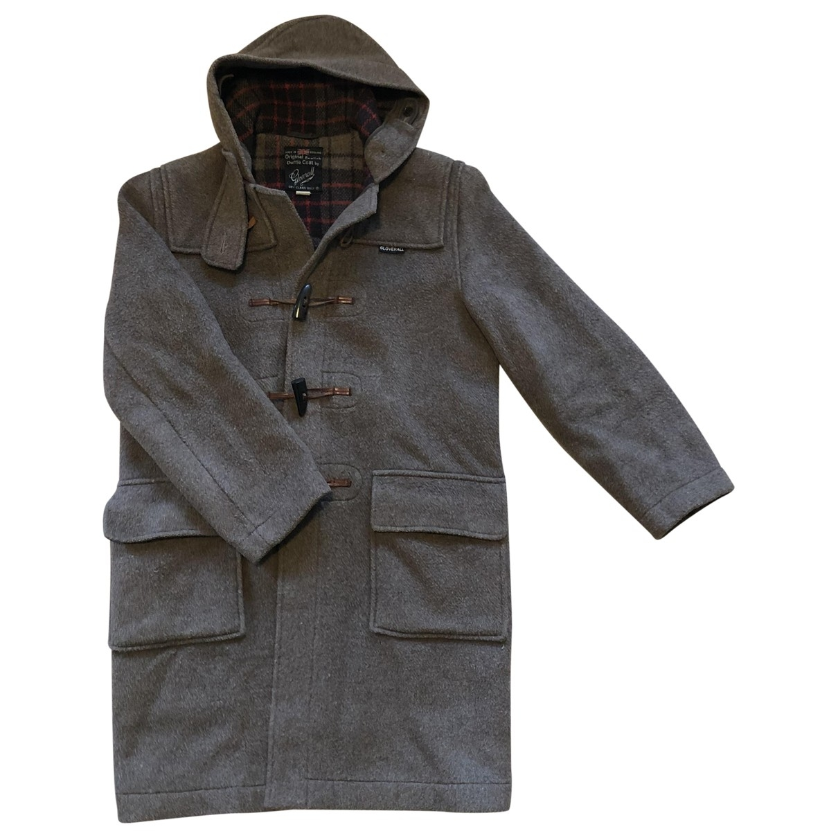 Gloverall \N Maentel in  Braun Wolle