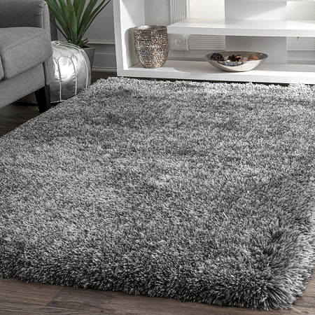 nuLoom Hand Tufted Kristan Shag Rug, One Size , Gray