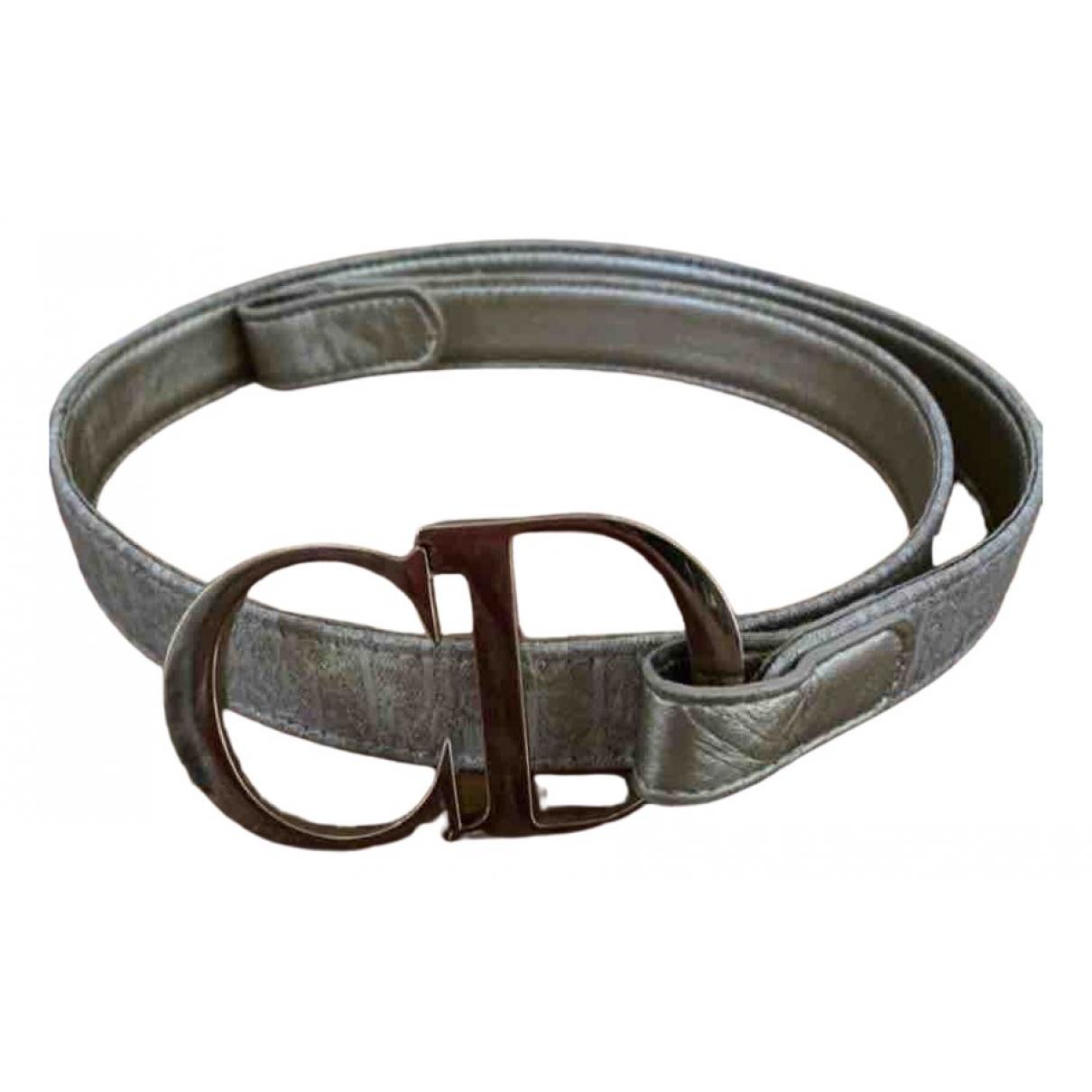Dior \N Gold Cloth belt for Women 85 cm