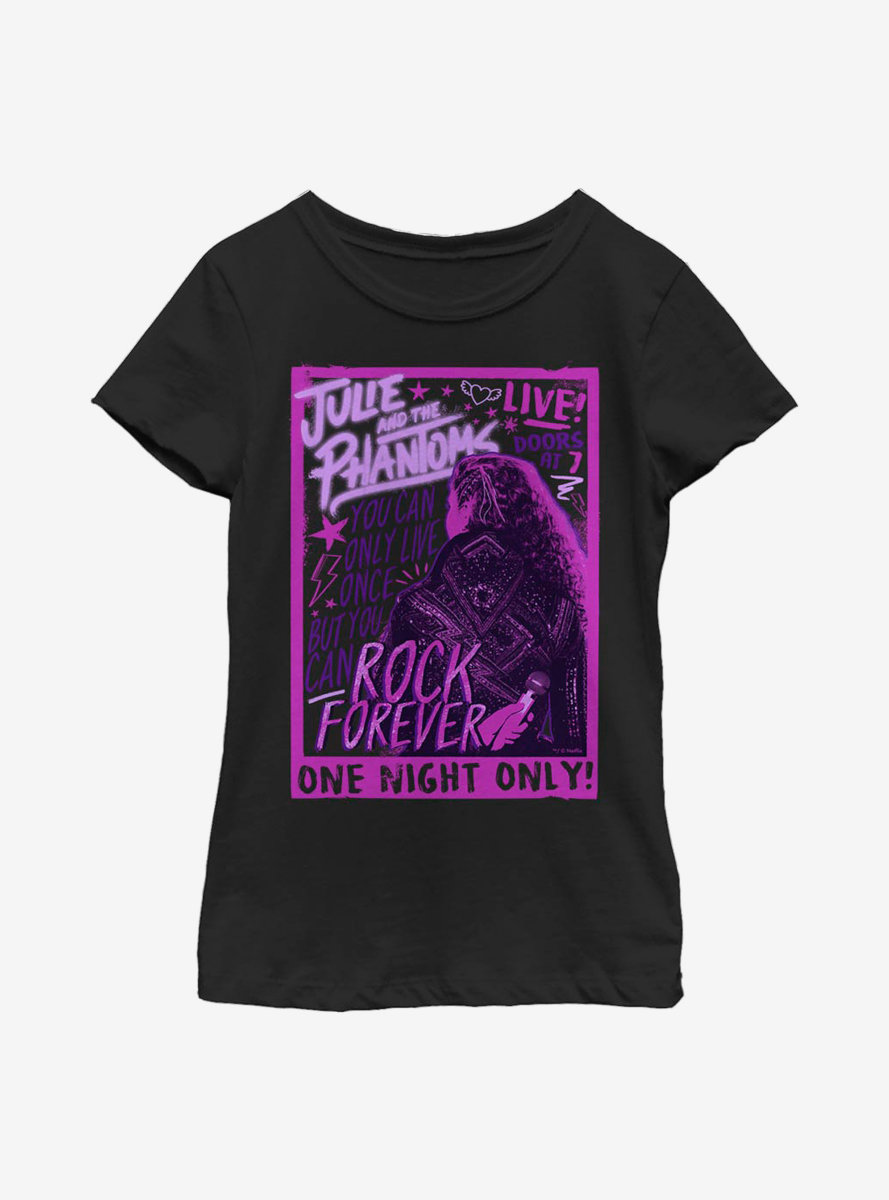 Julie And The Phantoms Live Concert Youth Girls T-Shirt