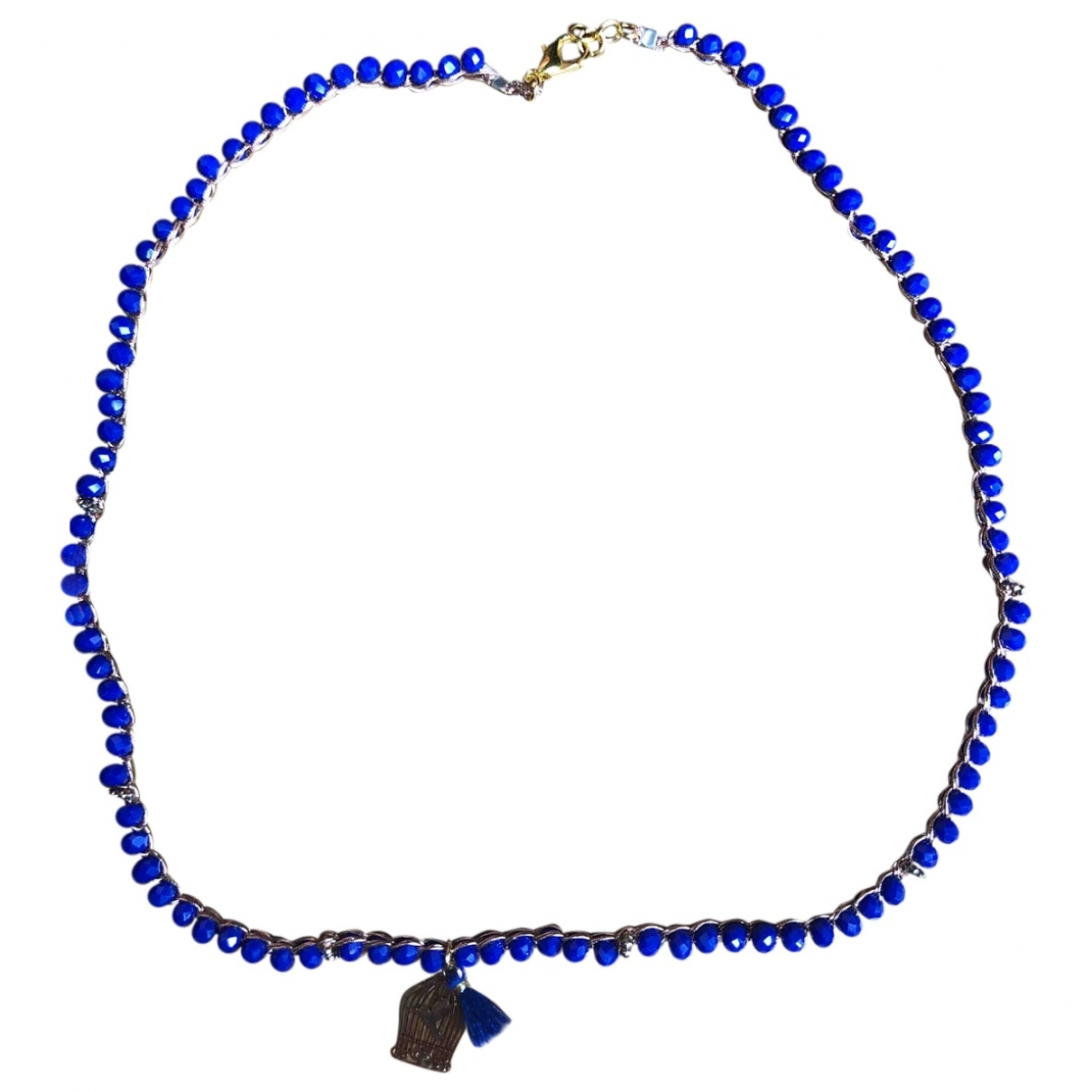 Non Signe / Unsigned \N Kette in  Blau Metall