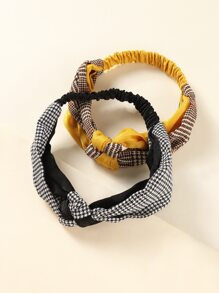 2pcs Houndstooth Headband