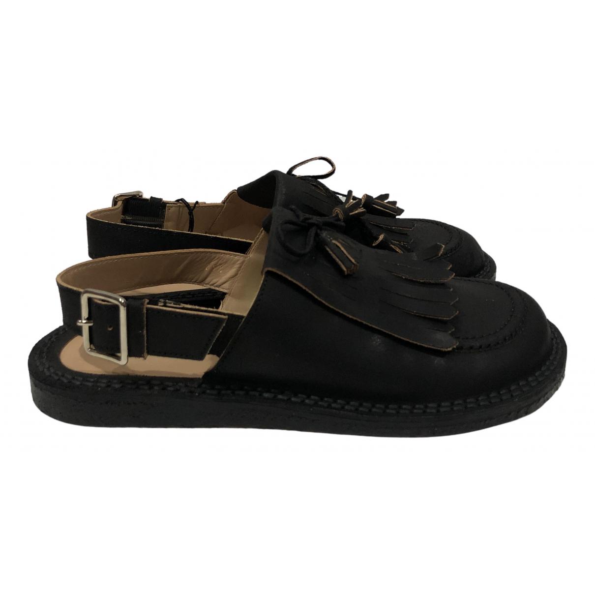 Comme Des Garcons - Sandales   pour femme en cuir - noir