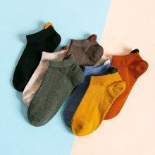 7 pares calcetines unicolor