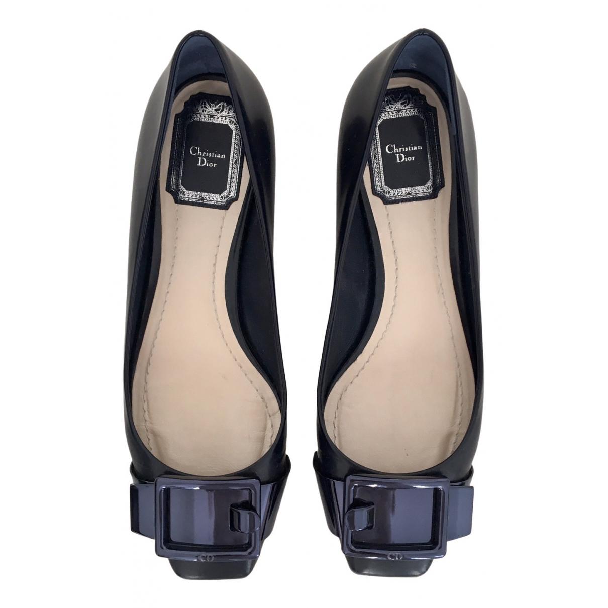 Dior \N Black Leather Ballet flats for Women 36.5 EU