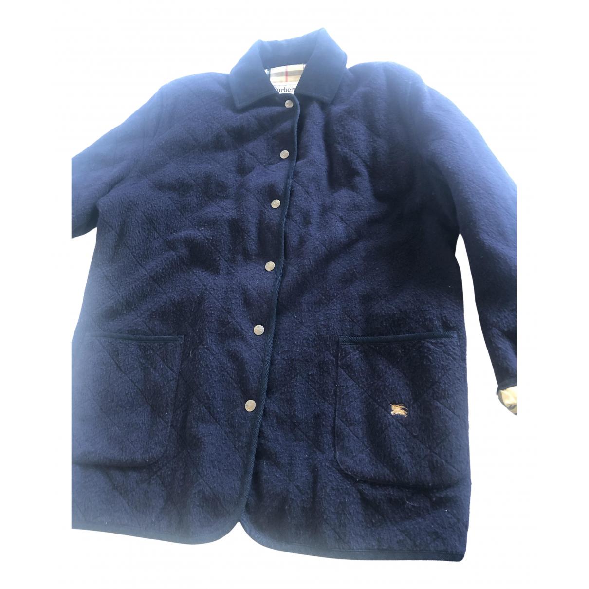 Burberry N Navy Wool jacket for Women 42 FR