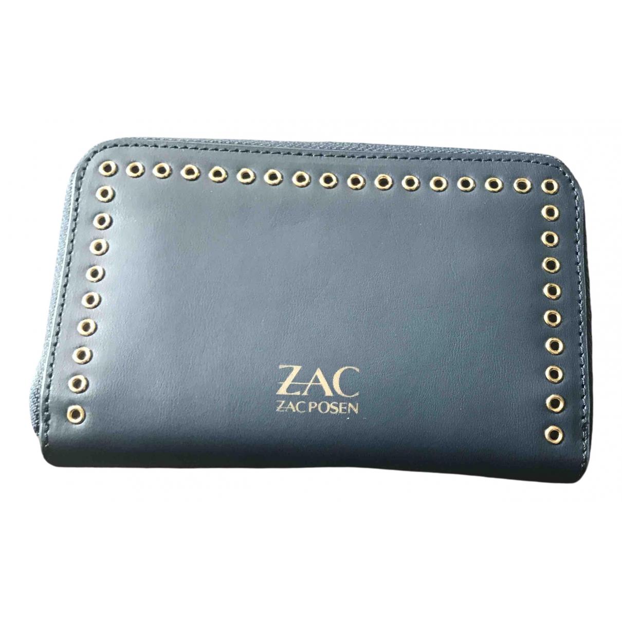 Zac Posen - Portefeuille   pour femme en cuir - bleu