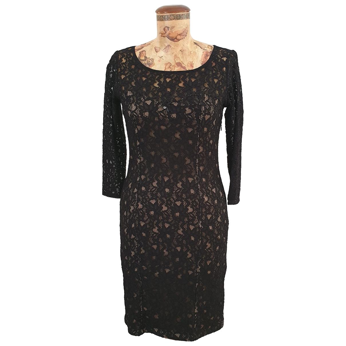 Guess \N Black Cotton - elasthane dress for Women 42 IT